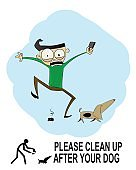 Clean up after your pet sign.