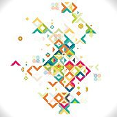 Abstract colorful and creative mix geometrical template