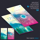 Music Player & Unlock Screen