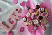 Love Pop Cakes - Stock Image