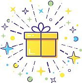 Gift box logo.