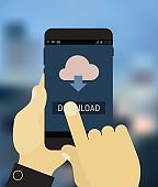 Cloud computing app mockup