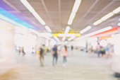 Blur walk way to boarding gate at airport