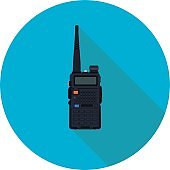 portable radio flat icon