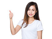 Asian young woman making gestures