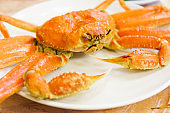 Steamed Alaska King Crab
