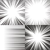 Comic book speed horizontal lines background