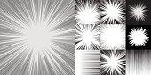Comic book speed horizontal lines background set of ten editable