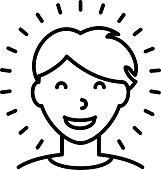 Happy Healthy Man Icon