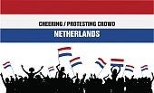 Cheering or Protesting Crowd Netherlands