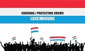 Cheering or Protesting Crowd Luxembourg