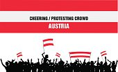Cheering or Protesting Crowd Austria