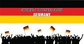 Cheering or Protesting Crowd Germany