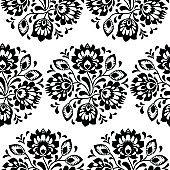 Seamless traditional floral Polish folk art pattern