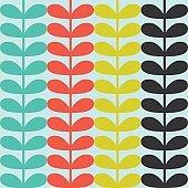 Multicolor stems seamless pattern