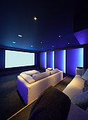 Home theater, luxury interior