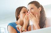 Girls gossiping and having fun