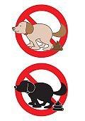NO dog pooping