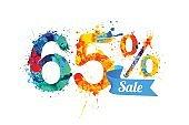 sixty five (65) percents sale