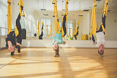 Group classes of aerial fly yoga