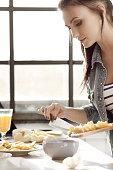 Woman at kitchen