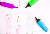 Children Drawing - Divorce