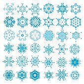 Snowflake vector illustration.