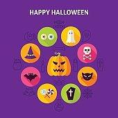 Happy Halloween Infographic Concept