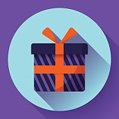 Gift Icon flat Vector
