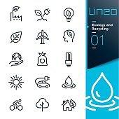 Line icon set - Environment
