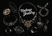 jewelry. hand drawn bracelet, rings, pendant, necklace, chain, brooch, earrings.