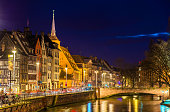 Embankment of the Ill river in Strasbourg - Alsace, France