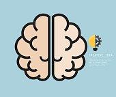 Brain Flat Design, Creative Idea Concept