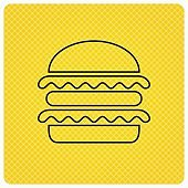 Hamburger icon. Fast food sign.