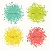 Set of color vector shapes.