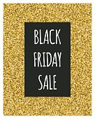 Gold glitter sale background.