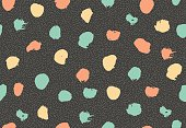 Seamless pattern with ink brush circles.