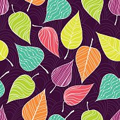 Seamless pattern with leaf.