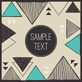 Tribal invitation card template.