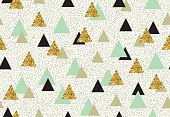 Vector seamless pattern with color triangles.