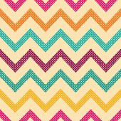 Seamless vector geometric pattern with Zig zag stripes