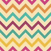 Seamless vector geometric pattern with Zig zag stripes