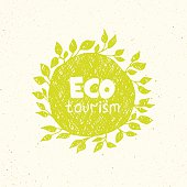 Hand drawing eco tourism logo templates.