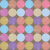 Seamless circle pattern. Hand-drawn background.