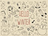 Winter doodle collection.