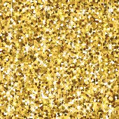 Vector background with gold glitter.