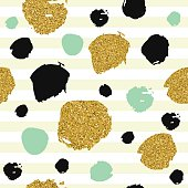 Trendy spot color vector seamless pattern.