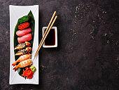 Nigiri and Gunkan sushi set