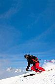 Snow Skier Carving