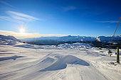 Winter Panorama    Alps Mountains Snowy Landscape   Ski resort  Snow Park
